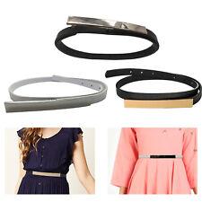 Mujer Niña Clásico Piel Sintética Cinturón Ajustable Brillante Hebilla de Metal