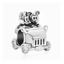 Mickey & Minnie Disney Vintage Car Charm Bead for European Bracelets + Gift Bag