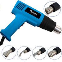2000W Hot Air Heat Gun Dual Temperature Paint Stripper DIY Tool + 4 Nozzle UK