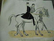 Au Bois Le Matin Bins Cavaliers Marocains Fnatasia Print Art Déco 1905