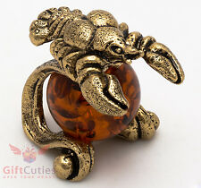 Solid Brass Amber Figurine Cancer Astrology Zodiac sign Horoscope IronWork