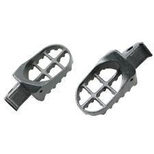 Grey Steel Dirt Bike Foot Pegs Pedals For Suzuki RM85 85L DRZ 125 125L 2003-2006