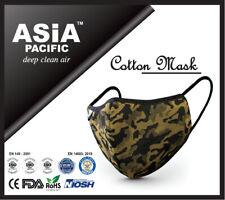 Premium Reusable 5 Layers Cotton Face Mask Green (CE/FDA/NIOSH/ROHSCertified)