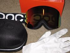 POC Lid Snow Goggles Lead Blue Goggles Persimmon red Mirror Lens.NWT.