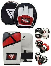 RDX Curved Focus Pads Mitts & Kick Boxing Gloves Hook and Jab Punching Bag MMA C