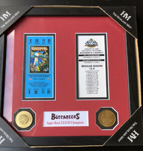 New 2003 Tampa Bay Buccaneers Vs Raiders Super Bowl Ticket Collection Wall Frame