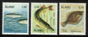 Aland 1990 Fish, Herring, Pike and Flounder, MNH/UNM