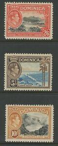 DOMINICA, MINT, #97-110, OG NH/VLH, CS/14, 3 SHOWN, CLEAN, SOUND & CENTERED