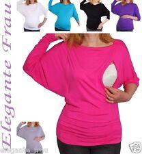 Stillshirt Umstandsshirt  Kimono Umstands Shirt Bluse Umstands Tunika Pullover *