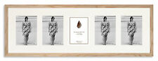 """32.5x10.5in Solid Oak Multi-aperture Photo Frame to fit 5x 7""""x5"""" photos"""