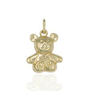 375 9ct Gold Teddy Bear Charm Pendant.