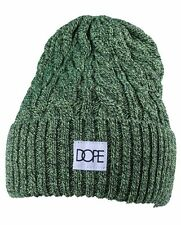 Dope Couture Amarillo   Verde y Negro Punto Cable Vuelta Fold Gorro  Invierno Nwt f25b4123672