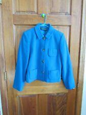 HARVE BERNARD Petites 4 Button Cashmere Blend Blazer or Jacket - Sz. 10P - BLUE