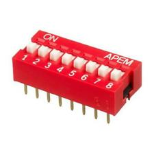 21 x Apem 8 Way Through Hole DIP Switch SPST, Raised Actuator NDS-08-V