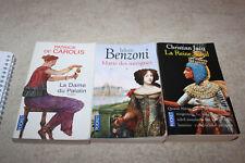 LOT 3 LIVRES historique * DE CAROLIS - C. JACQ - BENZONI   *   TRES BON ETAT