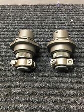 New Lot Of 2 Amphenol Pt07a 12 3s Sr Sc 9510 Circular Connector