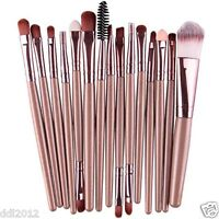 15Pcs Makeup Brushes Set Cosmetics Kit Eye Shadow Foundation Powder Lip Brushes