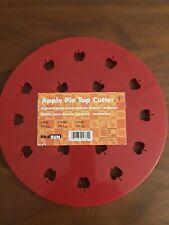 "Fox Run Apple Pie Top Cutter Red Plastic 9.5"" Press Mold Shape Steam Vent Baking"