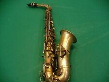 The Buescher True-Tone Low Pitch Alto Saxophone for restoration