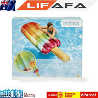 Intex Popsicle Design Inflatable Floating Lounge Raft Pool Float- Multi Color