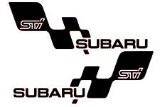 Subaru Impreza STI WRX  Sticker Turbo JDM  Decal Side skirt 420mm Pair x 2
