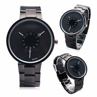 KEVIN Black/White Dial Stainless Steel Band Women's Men Gift Casual Quartz Watch