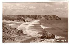 Three Cliffs Bay - Real Photo Postcard c1930 / Swansea