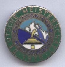 Orig.Pin  Deutsche Meisterschaft im Eisschiessen MITTENWALD 1976  !! SEHR SELTEN