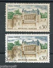 FRANCE - 1963, VARIETE COULEURS, timbre 1390, CHATEAU D AMBOISE, oblitéré