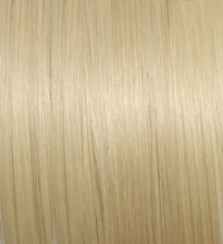 100 Hebra de cabello humano 45 cm rubio platino #60 Extensiones con fijaciones