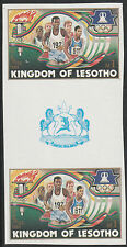 Lesotho (1275) - 1984 OLYMPICS RUNNING IMPERF GUTTER PAIR unmounted mint