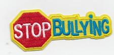 Boy Girl cub STOP BULLYING class Yellow Fun Patches Crests Badges GUIDES SCOUT