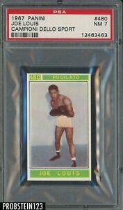 1967 Panini Campioni Dello Sport Boxing #480 Joe Louis PSA 7 NM