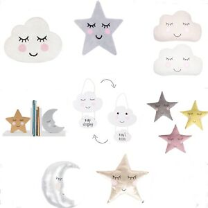 Sass & Belle Cloud Star Moon Cushion Pillow Rug Bookends Plaque Baby Room Decor