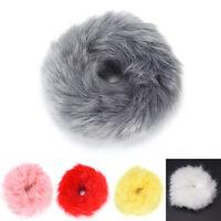 False Rabbit Fur Elastic Plush Hair Tie Band Rope Ponytail Holder Headwear LJ