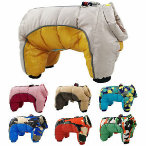 Winter Pet Dog Jumpsuit Camouflage Warm Waterproof Puppy Jacket Coat Clothes New