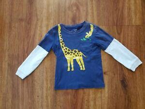Carter's Boy's Giraffe Theme Long Sleeve Shirt 4T