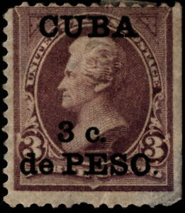 US Possessions West Indies - 1899 - 3c on 3 Cents Violet Surcharged Issue # 224