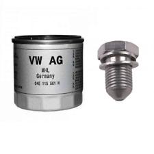 Genuine VW Audi SEAT Skoda 1.0, 1.4, 1.5TFsi Oil filter Sump plug for steel sump