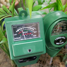 3 in 1 Ph Tester Soil Water Moisture Light Test Meter for Garden Plant Flower#Ow