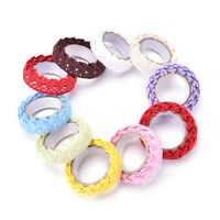 Fabric Lace Roll Decorative Sticky Ribbon Masking Tape Self AdhesiveJB