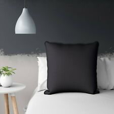 """Black Polyester Faux Silk Cushion Cover Solid Pillow Case Throw 28X28"""""""