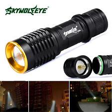 SkyWolfeye 8000 LM  Q5 LED Flashlight Zoomble Mini Torch Light Lamp AA 14500