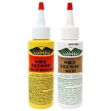 Wild Growth oil Light Oil Moisturizer 4oz & Hair Oil 4oz (2-Pack)