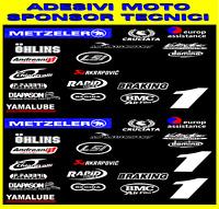 Adesivi moto Yamaha R6 sponsor tecnici