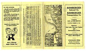 Bamberger Railroad BRR Interurban Public Timetable PTT March 22, 1951