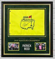 Patrick Reed SIGNED & Framed 2018 MASTERS FLAG Autograph AFTAL COA (FTOMM)