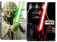 STAR WARS PREQUEL TRILOGY 1,2,3 + ORIGINAL TRILOGY 4,5,6 (6 DVD) 2 Box
