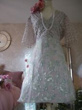 Coast size 16 Blush lace jacquard dress wedding occasion NEW TAGS