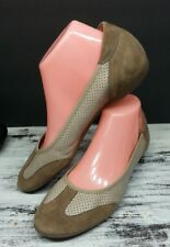 SESTO MEUCCI Italy Women's Size 8 M Suede Beige Leather Driving Shoes Sneakers